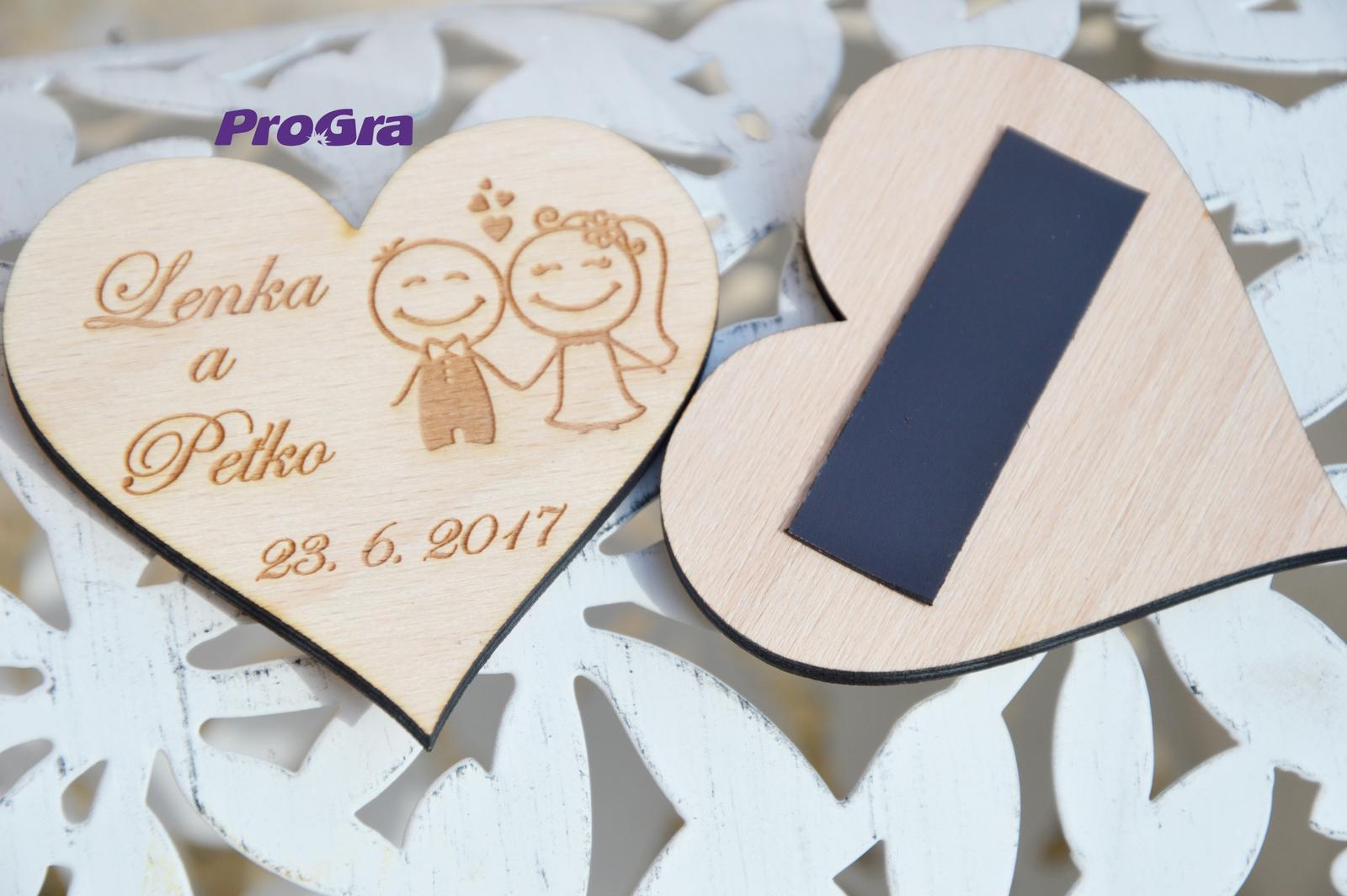 Svadobná magnetka - Snúbenci - Obrázok č. 2