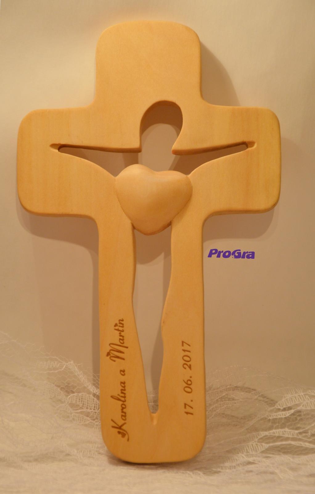 Siluetkový krížik pre snúbencov - menší  - Obrázok č. 3