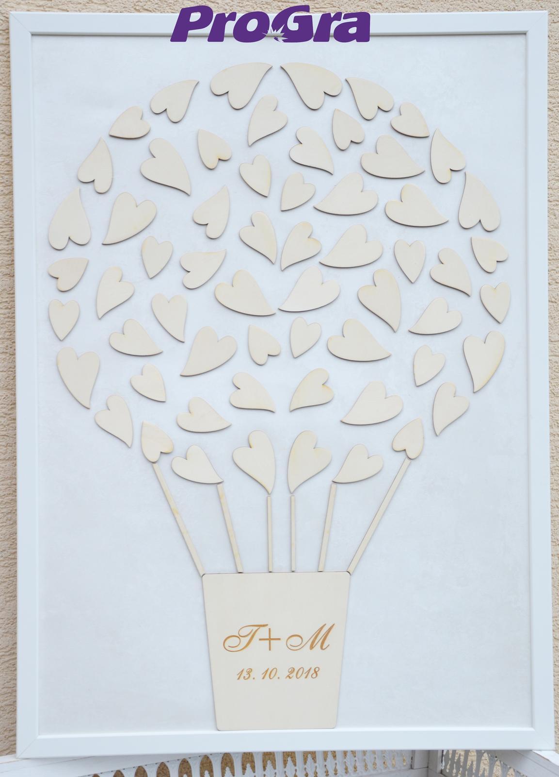 Svadobný obraz - lietajúci balón (40 x 50 cm) - Obrázok č. 2