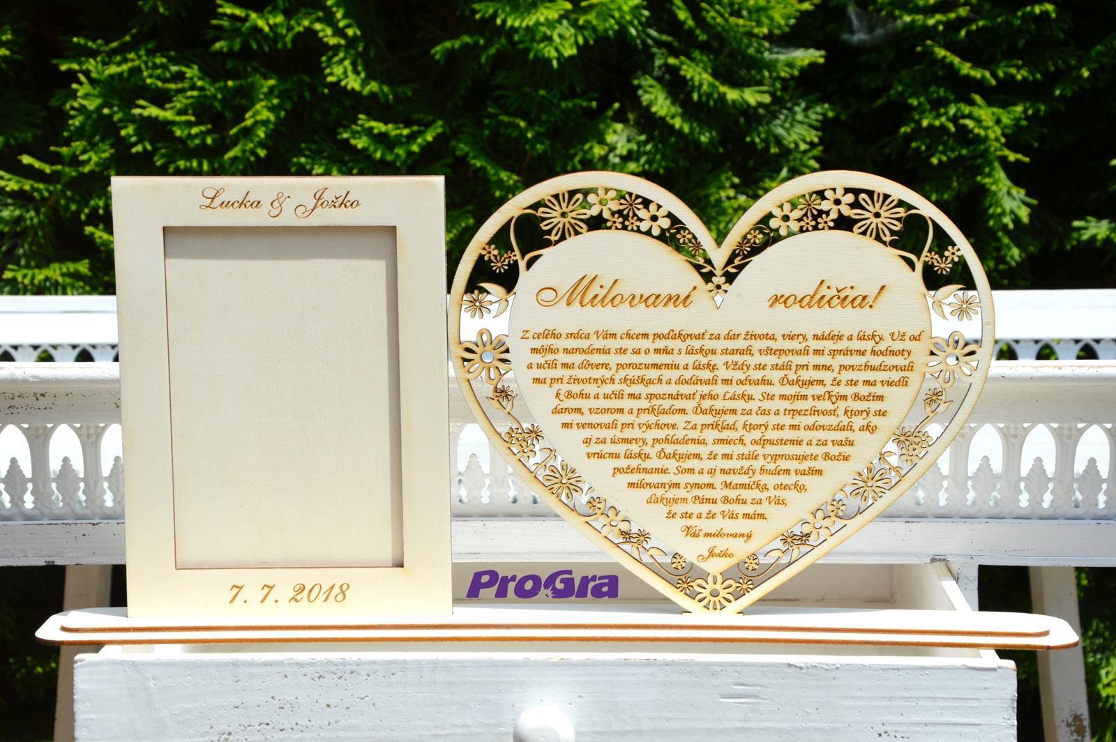 Poďakovanie rodičom Kvietky s fotorámikom_stojanče - Obrázok č. 4
