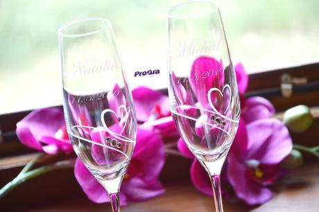 Natalie - svadobné poháre - 2ks  - Obrázok č. 1