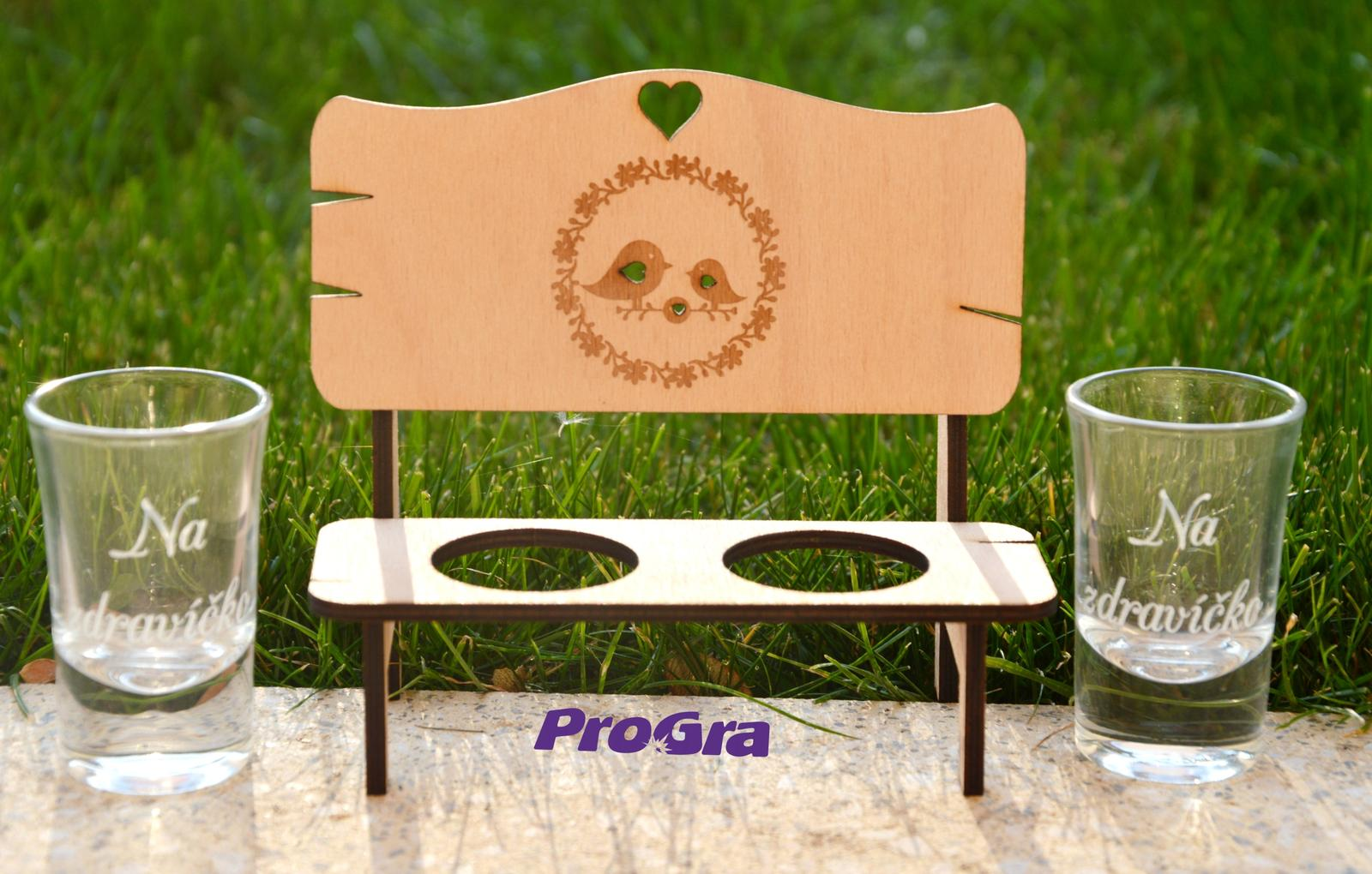 Vtáčiky - lavička so štamprlíčkami - darčekový set - Obrázok č. 3