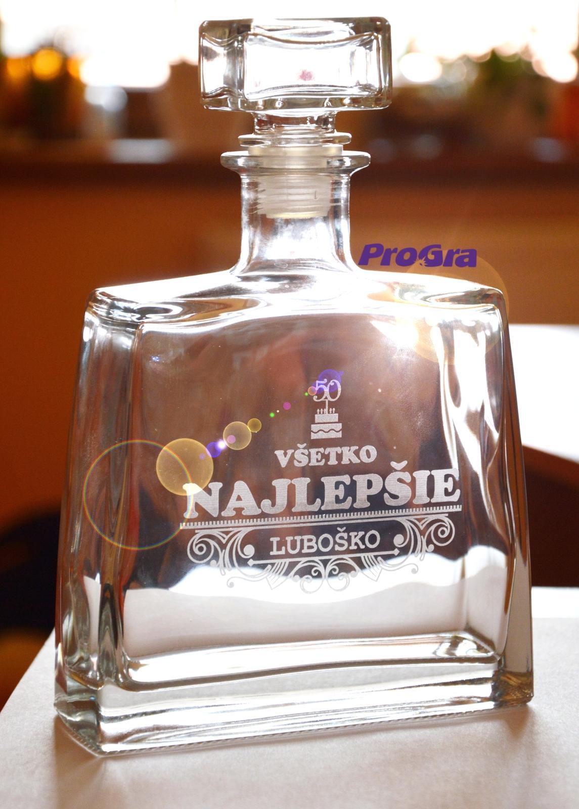 Jim - gravírovaná darčeková fľaša - Obrázok č. 1