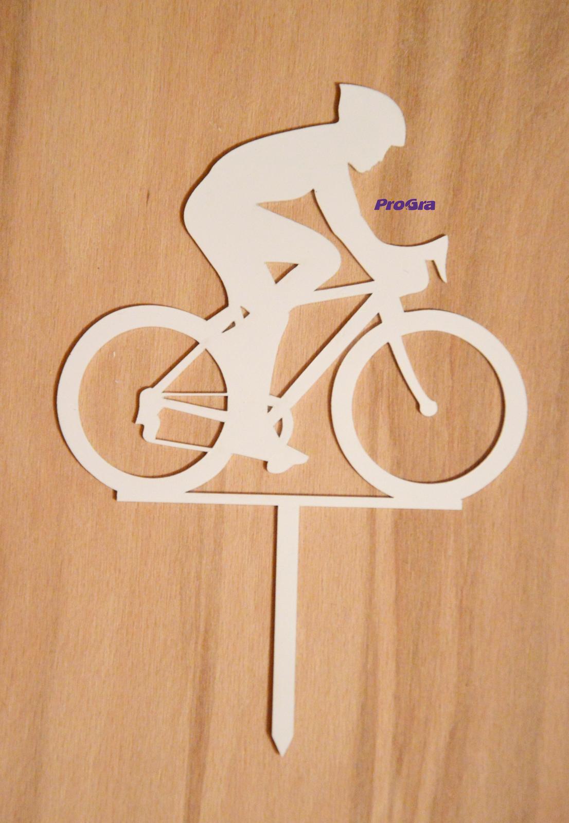Cyklista - biely zápich - Obrázok č. 1