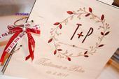 Drevená kniha hostí - Venček 21 x 21 cm,