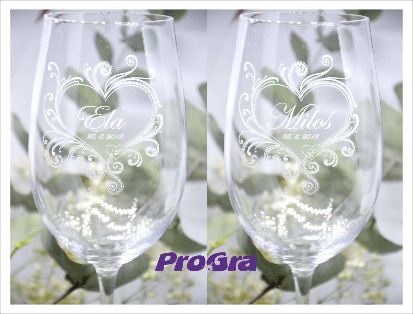 Callie - svadobné poháre - 2ks - Obrázok č. 1
