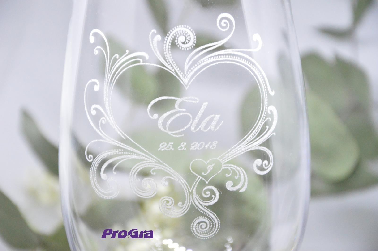 Callie - svadobné poháre - 2ks - Obrázok č. 2