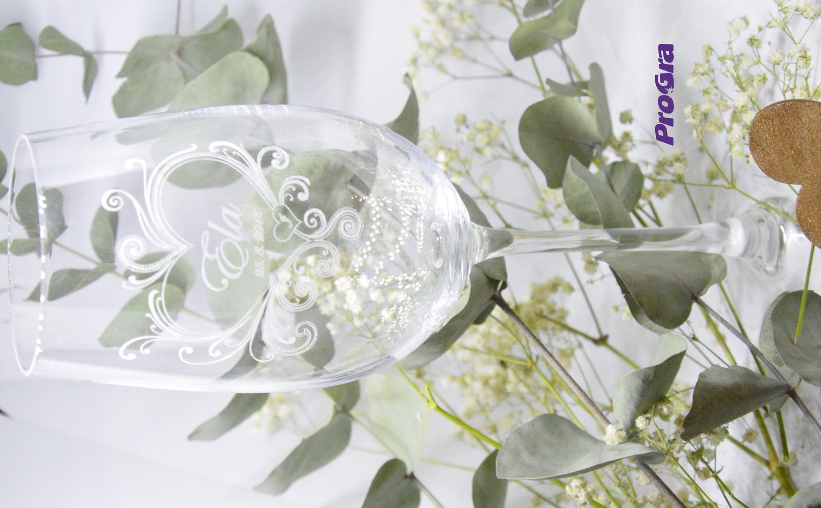 Callie - svadobné poháre - 2ks - Obrázok č. 3