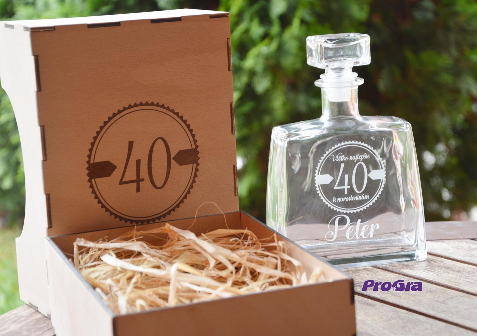 Darčekový set - fľaša JIM v drevenej krabičke - Obrázok č. 2