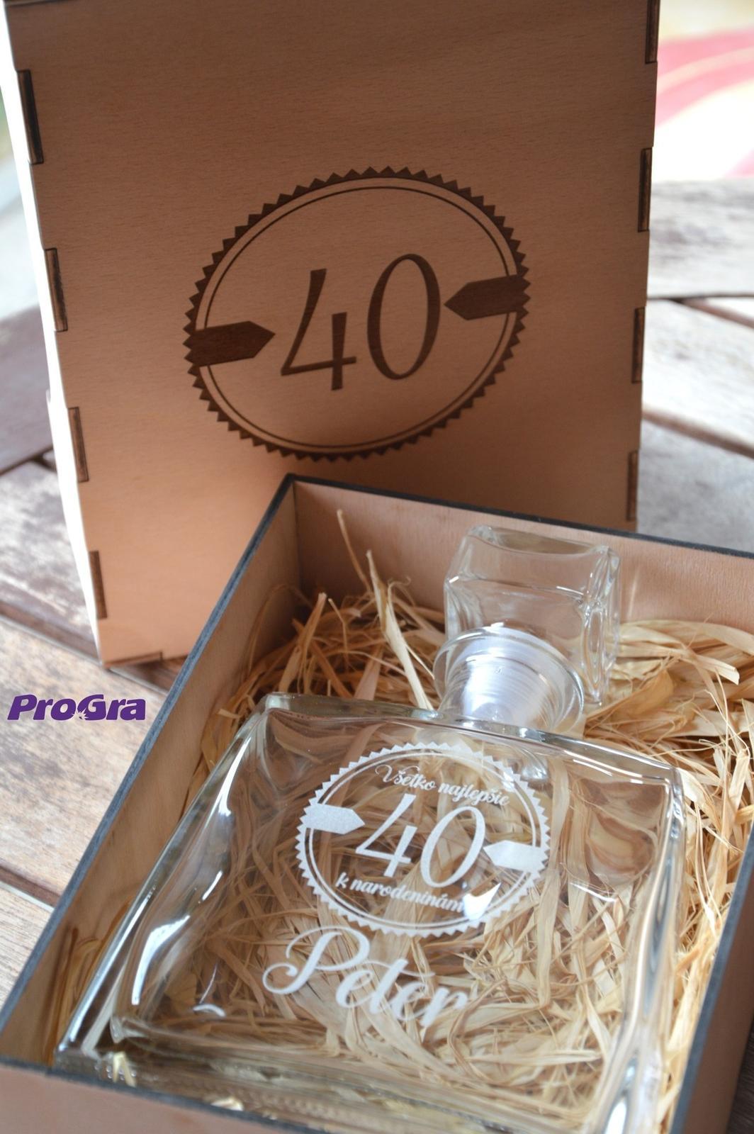 Darčekový set - fľaša JIM v drevenej krabičke - Obrázok č. 1