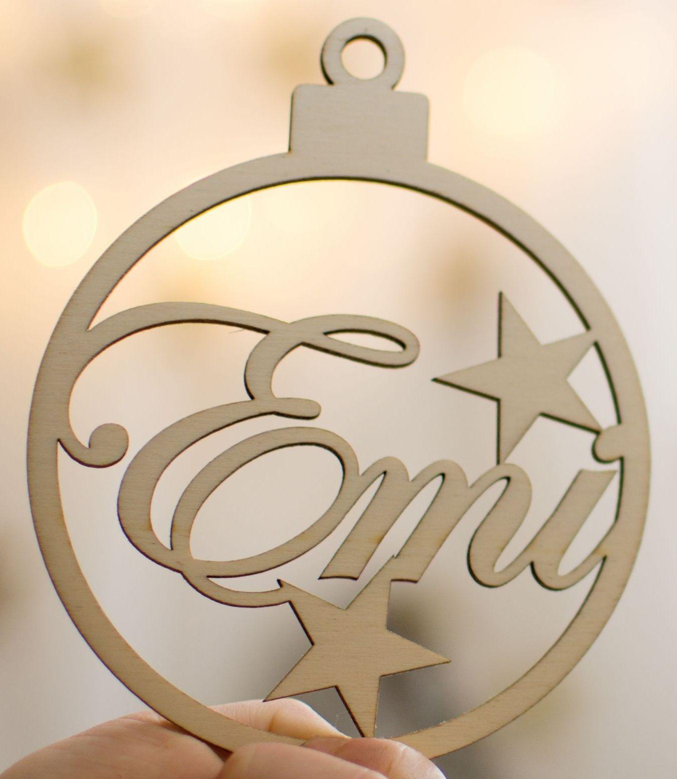 Vianočná guľa - menovka alebo darček pre hostí - Obrázok č. 1