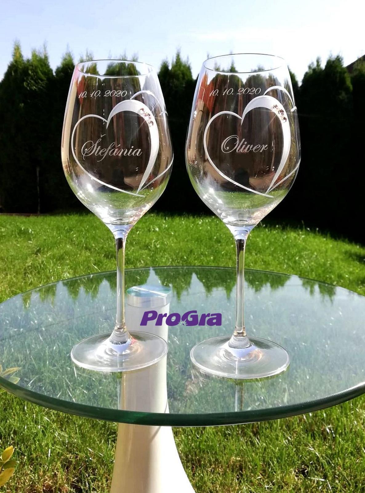 Violet - svadobné poháre - 2ks - Obrázok č. 2