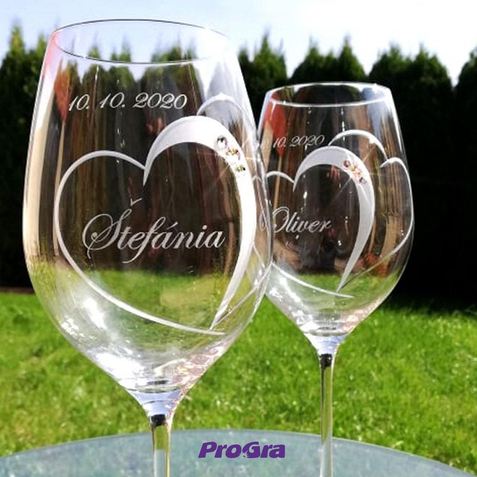 Violet - svadobné poháre - 2ks - Obrázok č. 3