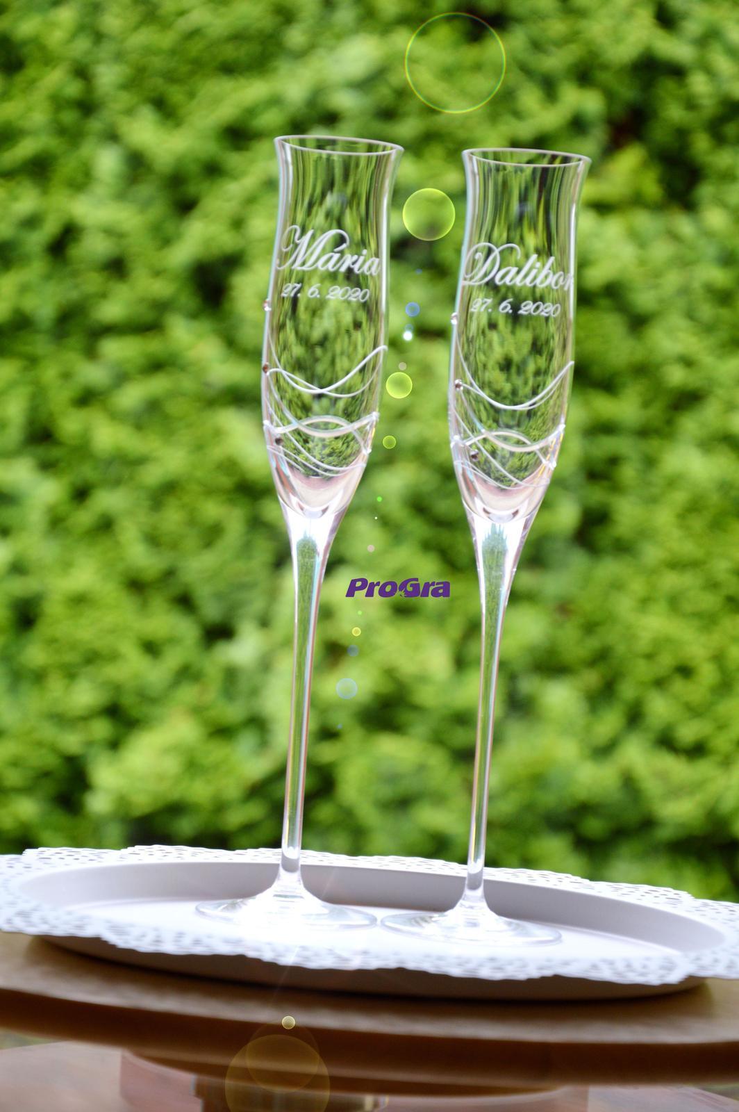 Ava - svadobné poháre - 2ks - Obrázok č. 2