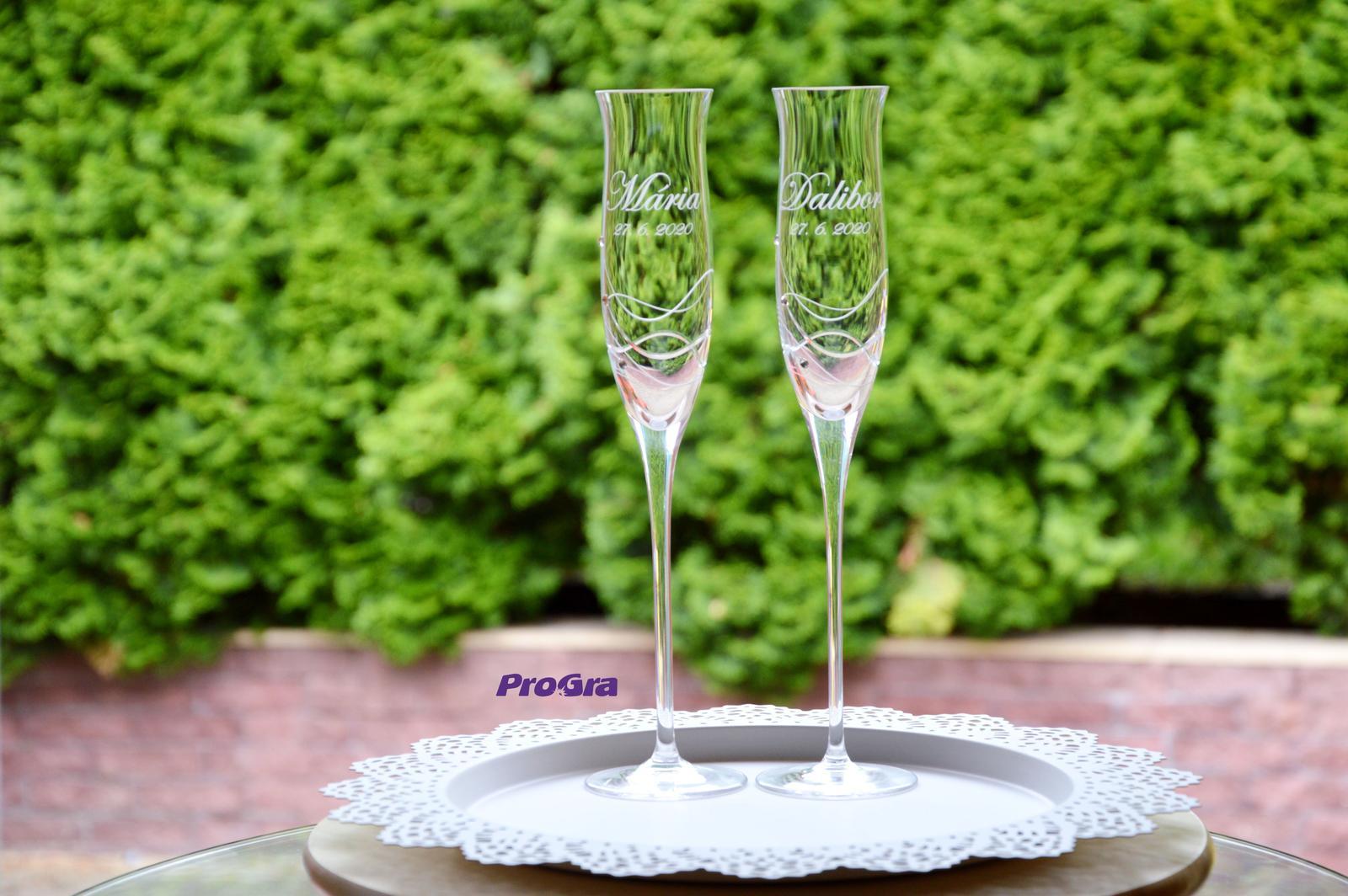Ava - svadobné poháre - 2ks - Obrázok č. 3
