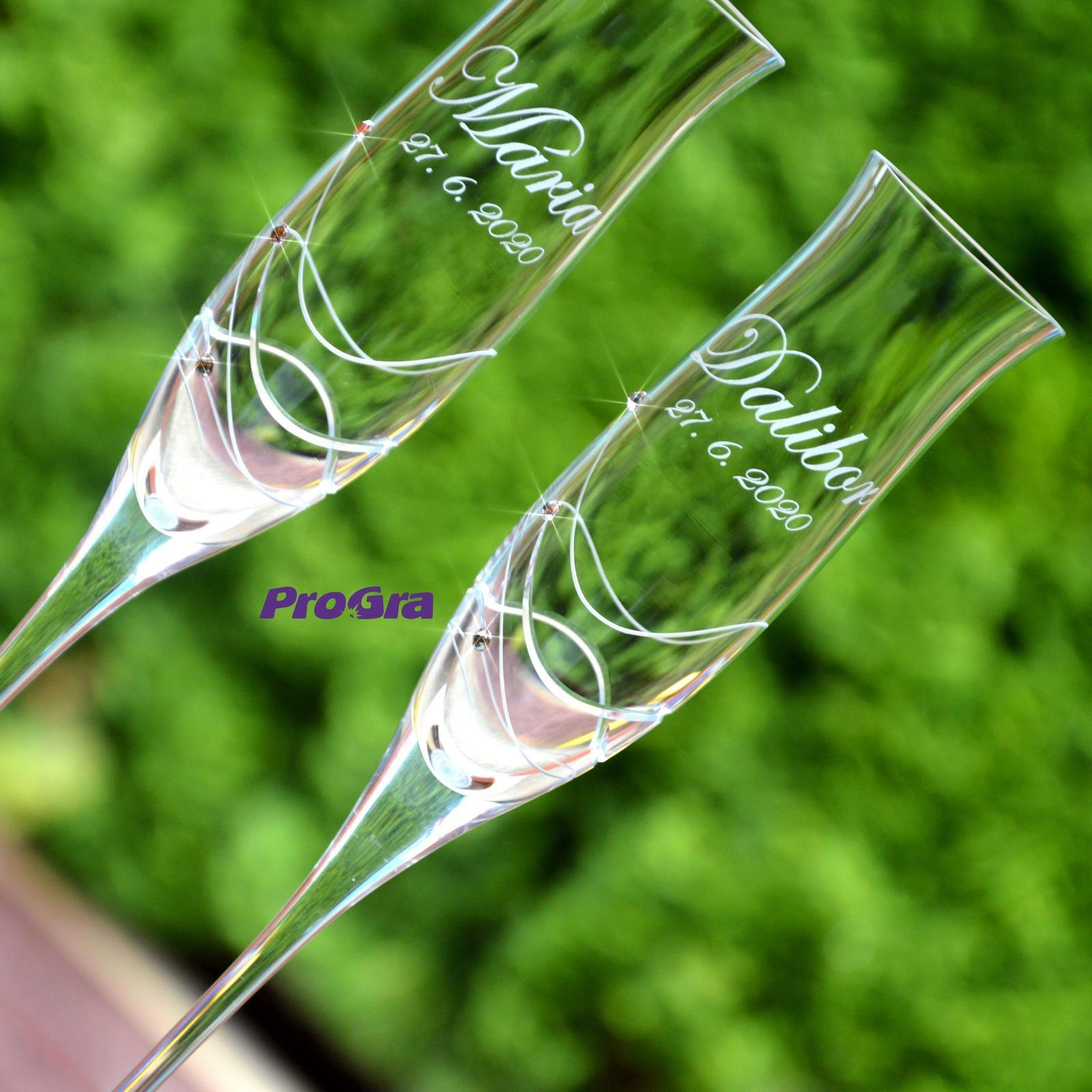 Ava - svadobné poháre - 2ks - Obrázok č. 4