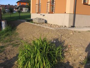 terénní - úpravy  - svahování terasy