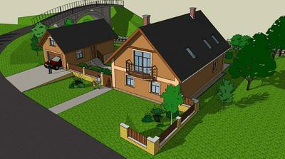 """Náš domeček (vizualizaci jsem dělal na """"žádost"""" manželky)"""
