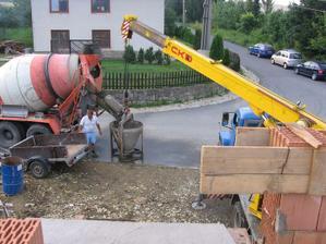 betonáž věnce