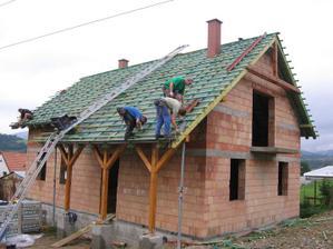 pokrývačské a klempříské práce na střeše