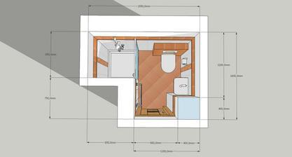 koupelna v přízemí - finální verze (RAKO Linea)