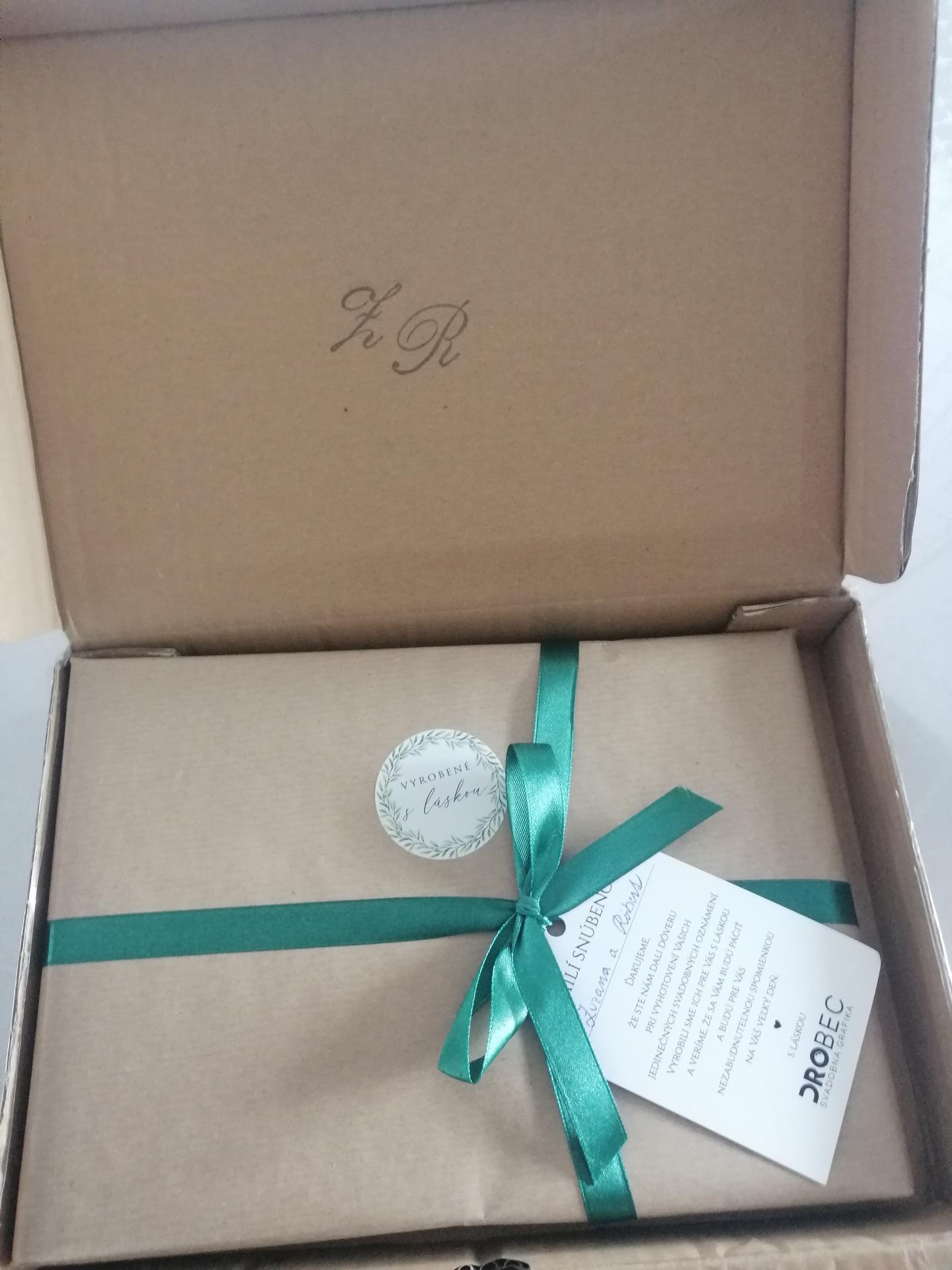 Náš veľký deň D 👰🤵❤️príprava - Prišla stuhou previazaná škatuľka 😍 top prístup a rýchlosť 💯👍😉 FB Drobec svadobná grafika 🙏