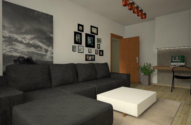Návrh panelákovej obývačky - Obrázok č. 1
