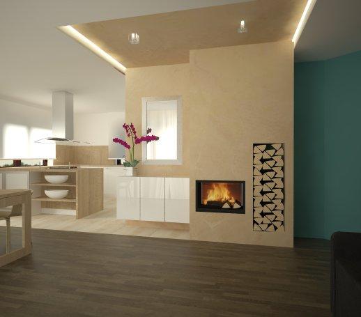 Obývacia izba s kuchyňou a jedálenským kútom - Obrázok č. 5