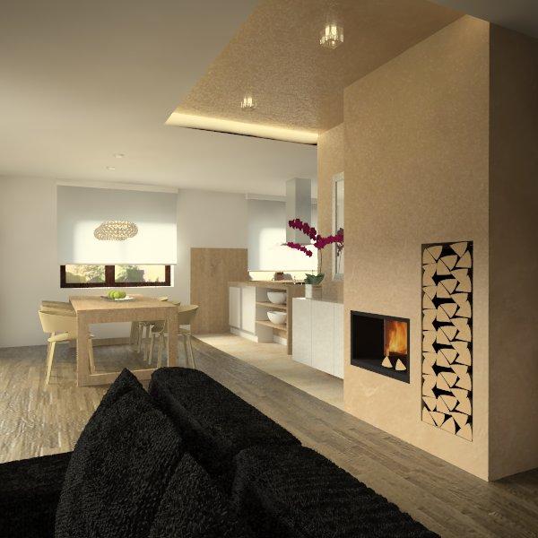 Obývacia izba s kuchyňou a jedálenským kútom - Obrázok č. 13