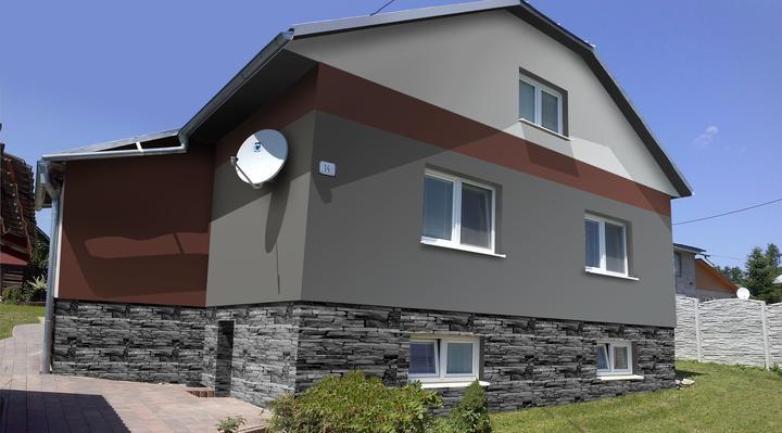 Návrh fasády RD do fotografie, Svidník - Obrázok č. 1