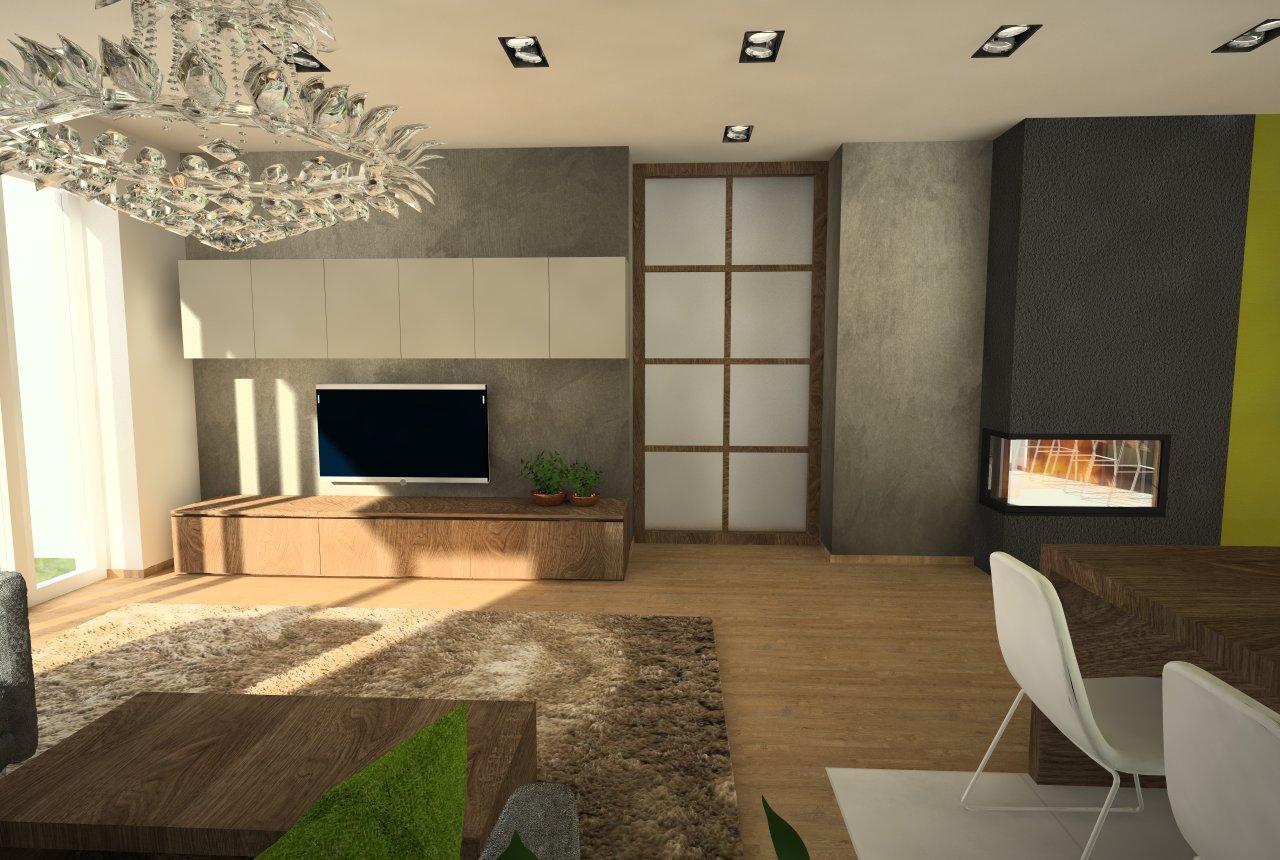 Návrh interiéru v RD, Dolný Kubín - navrhovaný stav