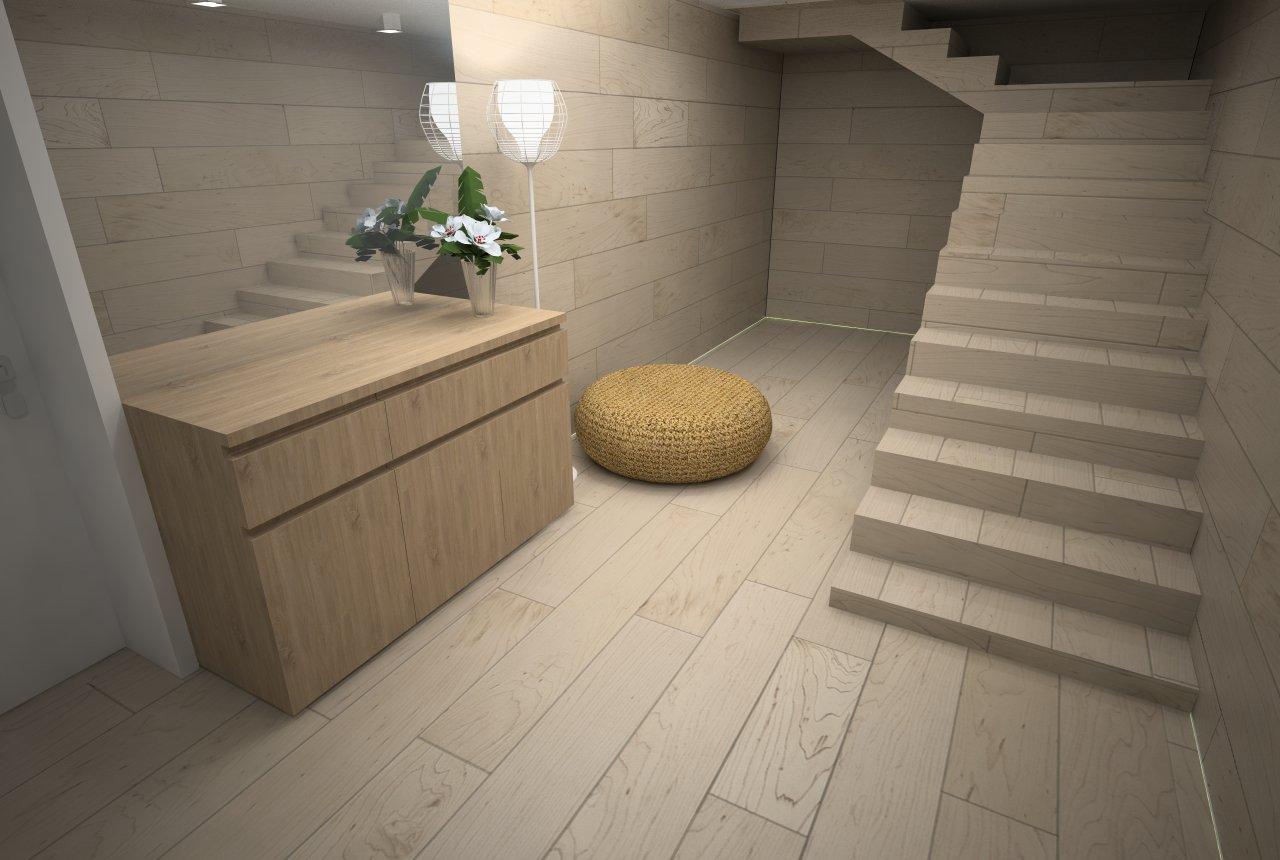 Návrh interiérov Vila - Michalovce - l.PP - návrh suterénu - časť wellness