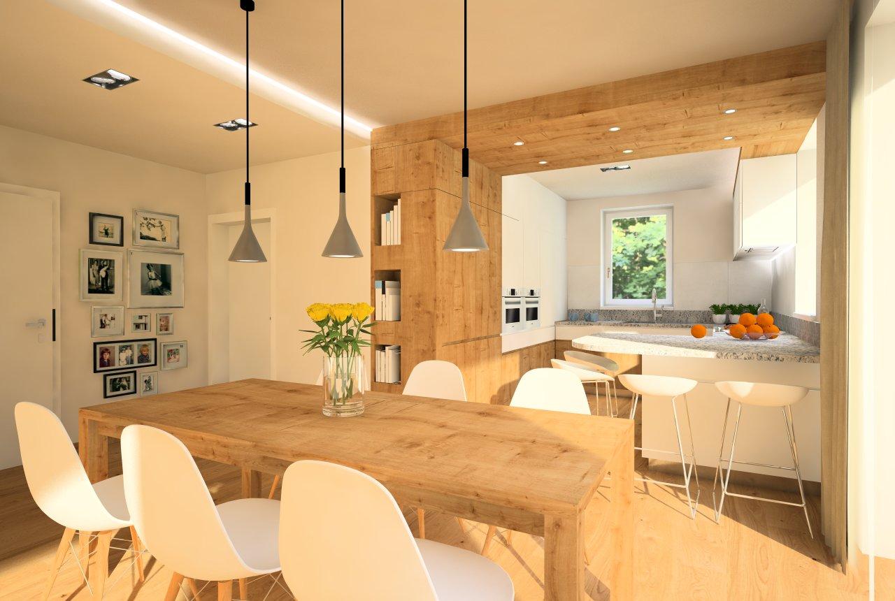 Návrh interiérov rodinného domu, Írsko - Prízemie