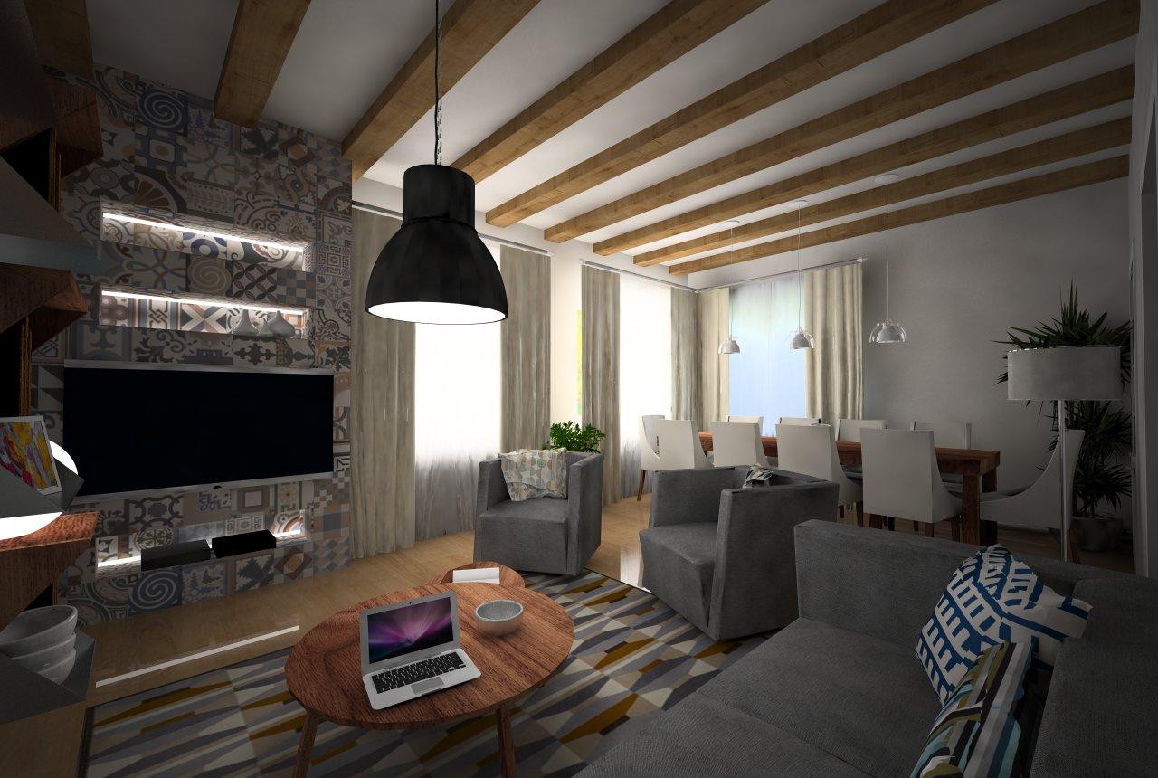 Pripravujeme - Návrh obývacej izby RD, Michalovce - Fáza pripomienkovanie