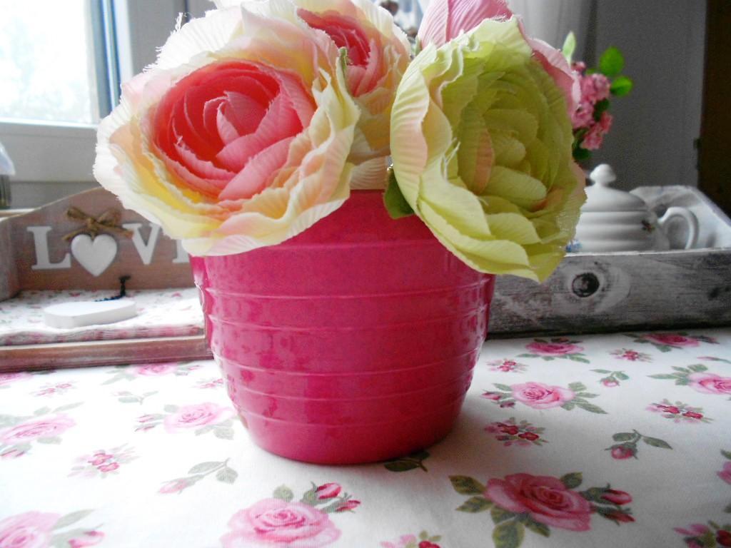 Keramický ružový kvetináč  - Obrázok č. 2
