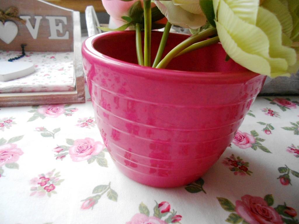 Keramický ružový kvetináč  - Obrázok č. 3