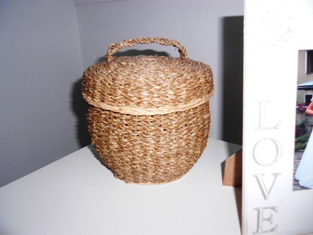 Nepoužitý provance prútený košík - Obrázok č. 1