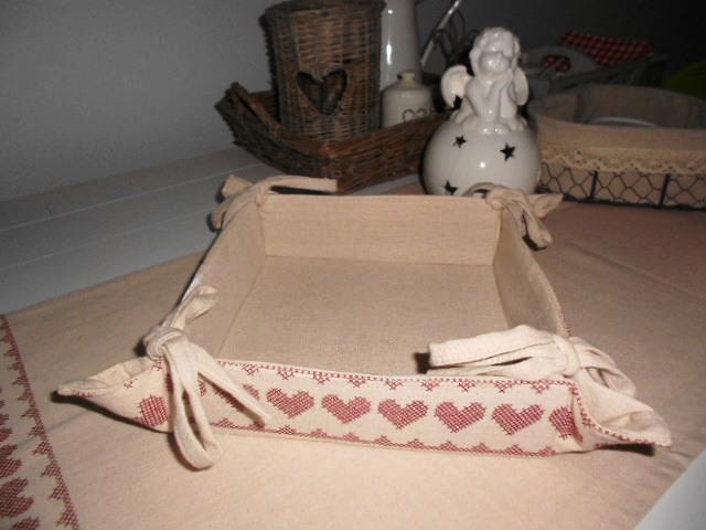 Látkový  košík na chleba, ovocie, orechy - Obrázok č. 1