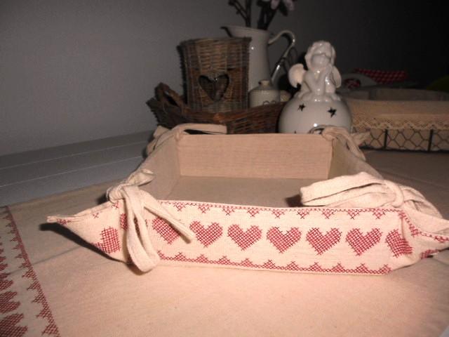 Látkový  košík na chleba, ovocie, orechy - Obrázok č. 2