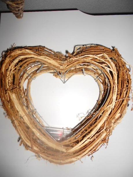 Svadobné MAXI 3D prútené srdce na zavesenie na dve - Obrázok č. 2