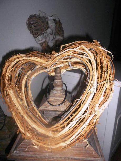 Svadobné MAXI 3D prútené srdce na zavesenie na dve - Obrázok č. 3