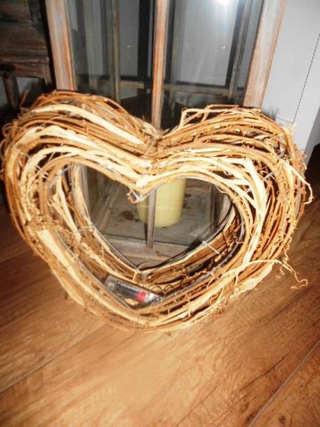Svadobné MAXI 3D prútené srdce na zavesenie na dve - Obrázok č. 4