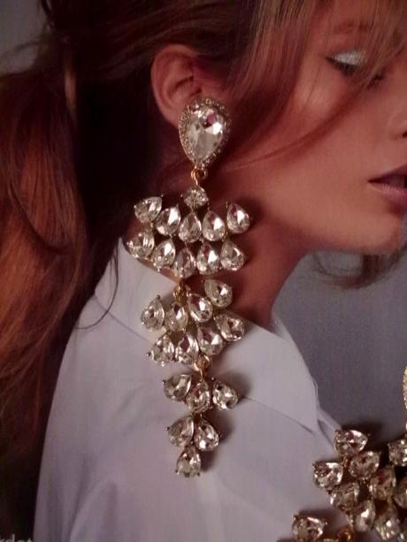 Prekrásne, luxusné náušnice - strieborné kamene - Obrázok č. 1