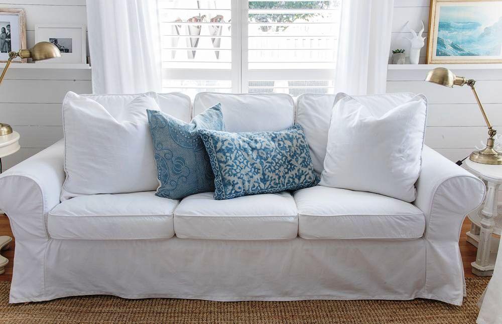 Biela 3-pohovka- gauč IKEA EKTORP super stav - Obrázok č. 1