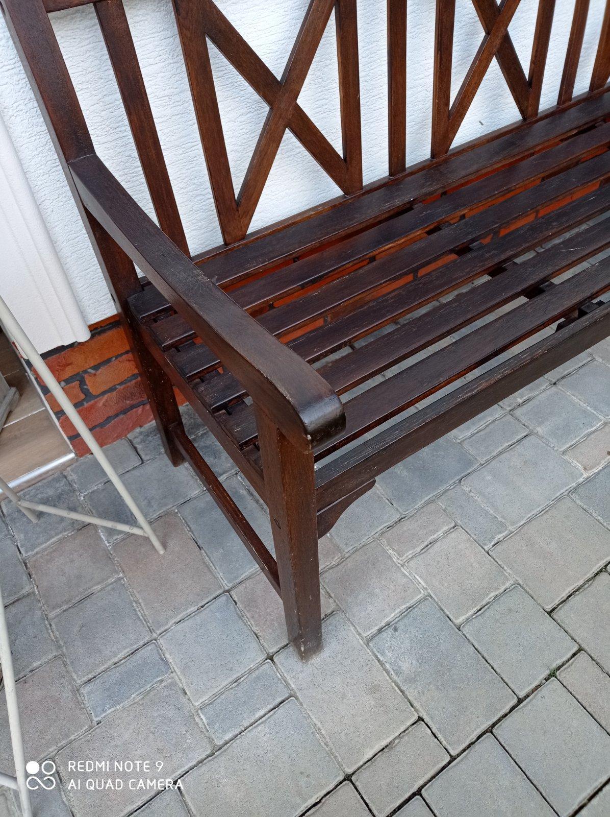 Kvalitná drevená lavička - lavica pre 3 osoby  super - Obrázok č. 4