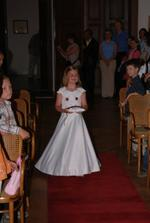 Po princeznách následoval tento malý nádherný andílek s polštářkem s prstýnky.