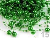 perličky na silonu, zelené,