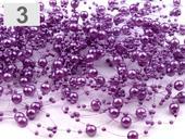 perličky na silonu, fialové ,