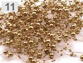 perličky na silonu, zlaté,