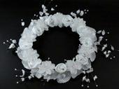 svatební věneček z květů, s kamínky, pro družičky ,